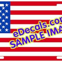 LIC101 Standard American Flag Aluminum License Plate
