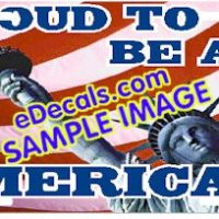 LIC105 American Flag Proud To Be An American Aluminum License Plate