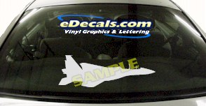 MIL100 Military Aircraft Airplane Decal