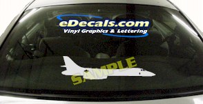 MIL106 Military Aircraft Airplane Decal