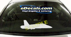 MIL109 Military Aircraft Airplane Decal