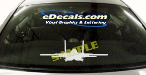 MIL110 F16 Eagle Military Aircraft Airplane Decal