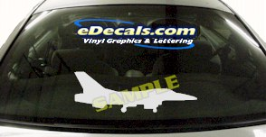 MIL113 F16 Falcon Military Aircraft Airplane Decal