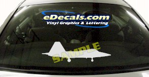 MIL115 F22 Raptor Military Aircraft Airplane Decal