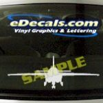 MIL118 Military Aircraft Airplane Decal