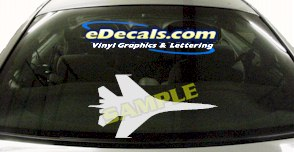 MIL126 Military Aircraft Airplane Decal
