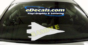 MIL130 Military Aircraft Airplane Decal