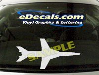 MIL132 Military Aircraft Airplane Decal