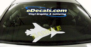 MIL133 Military Aircraft Airplane Decal