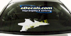 MIL136 Military Aircraft Airplane Decal
