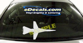 MIL138 Military Aircraft Airplane Decal