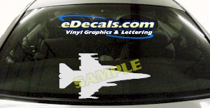 MIL146 F16 Falcon Military Aircraft Airplane Decal