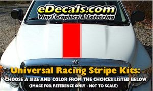 RSS902 Universal Single Racing Stripe Kit w/pinstripe