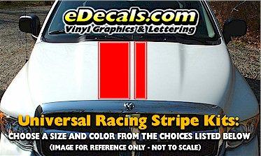 RSS904 Universal Dual Offset Racing Stripe Kit w/pinstripe
