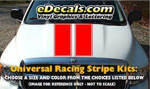 RSS906 niversal Dual Racing Stripe Kit w/pinstripe