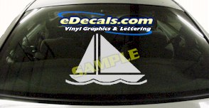 SPT103 Boat Sailing Water Sport Cartoon Decal