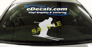 SPT110 Skiing Ski Sport Cartoon Decal