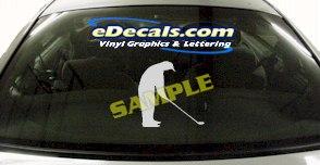 SPT112 Golf Golfing Golfer Sport Cartoon Decal
