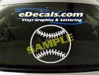 SPT113 Baseball Ball Sport Cartoon Decal