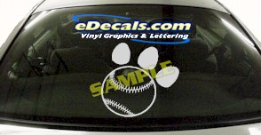 SPT118 Baseball Paw Sport Cartoon Decal