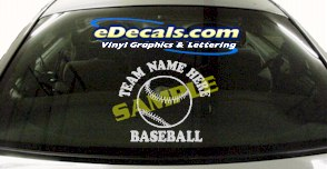SPT124 Add Your Name Baseball Sport Cartoon Decal