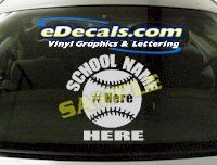 SPT126 Add Your Name Baseball Sport Cartoon Decal