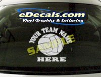 SPT130 Add Your Name Volleyball Sport Cartoon Decal