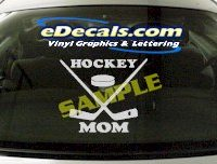 SPT135 Hockey Mom Sport Cartoon Decal