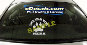 SPT144 Add Your Name Paws Sport Cartoon Decal