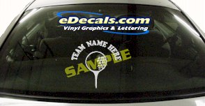 SPT147 Add Your Name Gold Ball Tee Sport Cartoon Decal