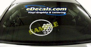 SPT148 Gold Ball Sport Cartoon Decal