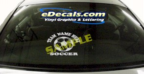 SPT150 Add Your Name Soccer Ball Sport Cartoon Decal