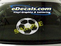 SPT151 Soccer Ball Sport Cartoon Decal