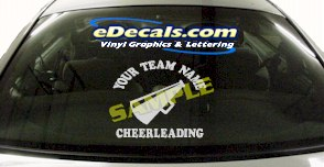 SPT159 Add Your Name Cheerleading Megaphone Sport Cartoon Decal