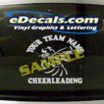 SPT161 Add Your Name Cheerleader Sport Cartoon Decal