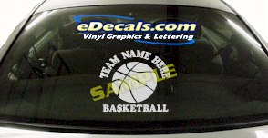 SPT168 Add Your Name Basketball Sport Cartoon Decal