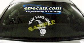 SPT169 Add Your Name Basketball Hoop Sport Cartoon Decal