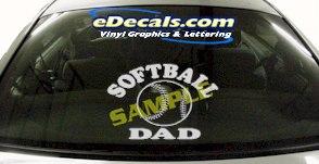 SPT181 Softball Dad Sports Cartoon Decal