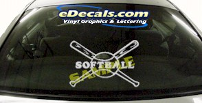 SPT184 Softball Bats Sports Cartoon Decal
