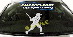SPT191 Softball Batter Sports Cartoon Decal