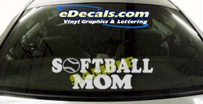 SPT198 Softball Mom Sports Cartoon Decal
