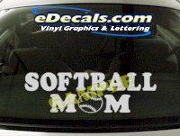 SPT199 Softball Dad Sports Cartoon Decal