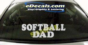 SPT200 Softball Dad Sports Cartoon Decal