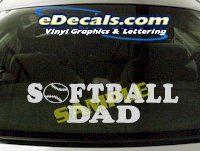 SPT201 Softball Dad Sports Cartoon Decal