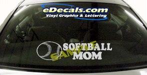 SPT202 Softball Mom Sports Cartoon Decal