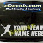 SPT207 Softball Your Team name Here Sports Cartoon Decal