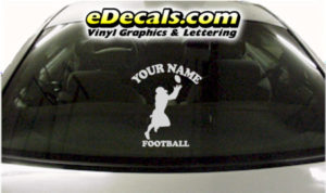 SPT215 Football Sports Your Name Cartoon Decal
