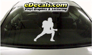 SPT221 Football Sports Player Cartoon Decal