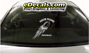 SPT229 Football Sports Your Name Cartoon Decal