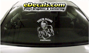 SPT230 Football Sports Your Name Cartoon Decal